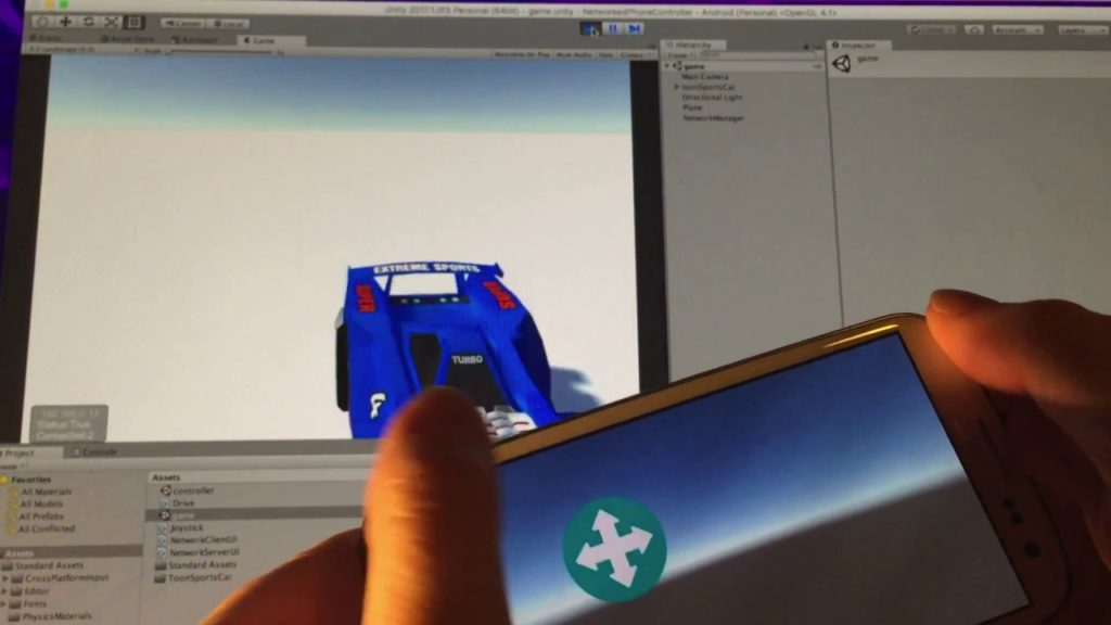 Creating a Game Controller from a Mobile Device with Unity: Part 2