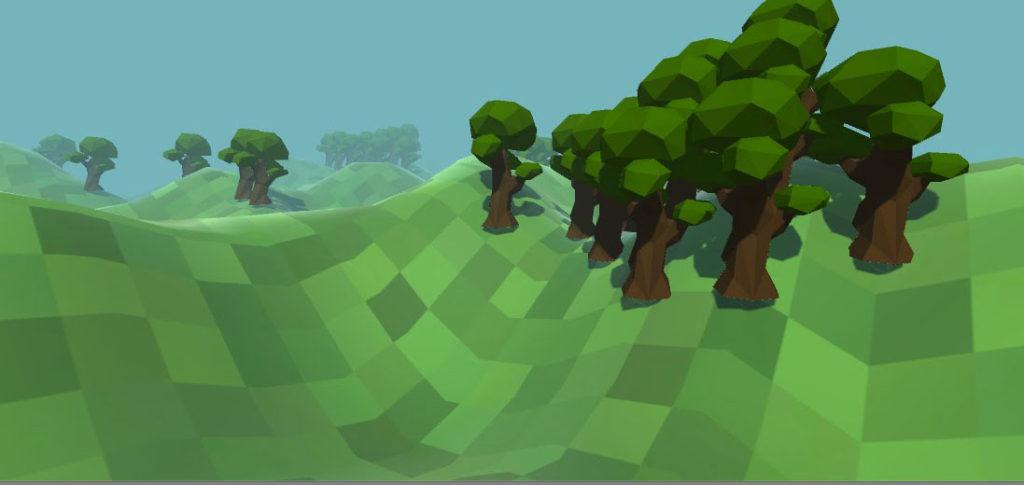 Infinite Trees for Infinite Terrains