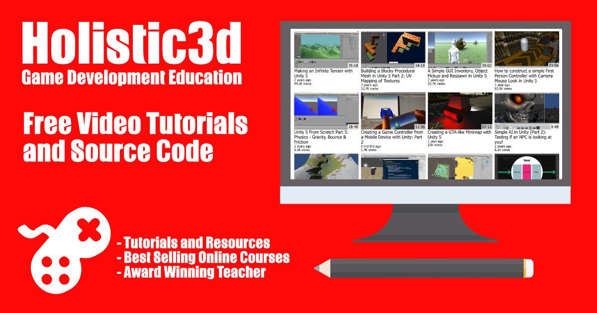 YouTube Tutorials & Source Code – Holistic3d