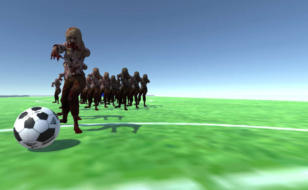 Scary Zombie Soccer with NavMesh Agents in Unity Part 1